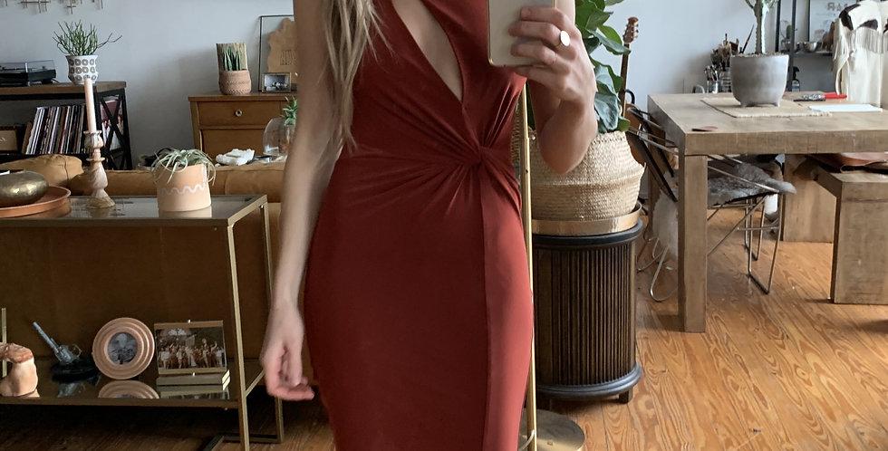 Piece of art exposed heart dress
