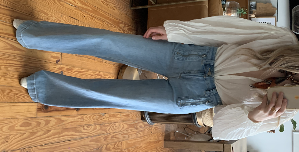 wide leg retro denim