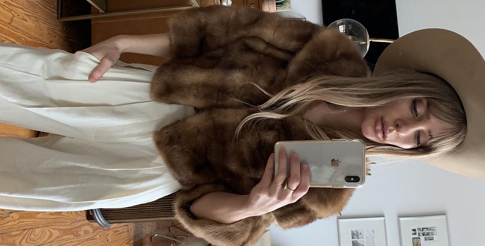 Vintage fur shrug 2