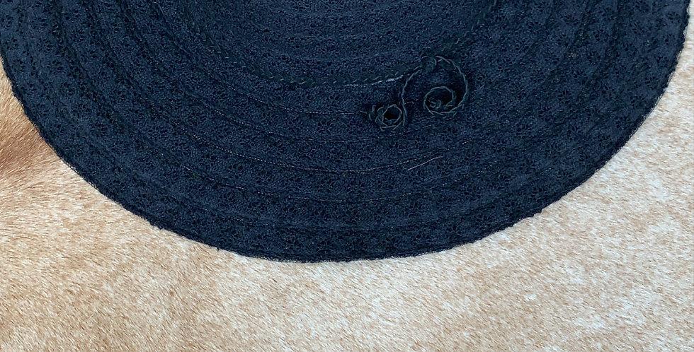free people black woven sunhat