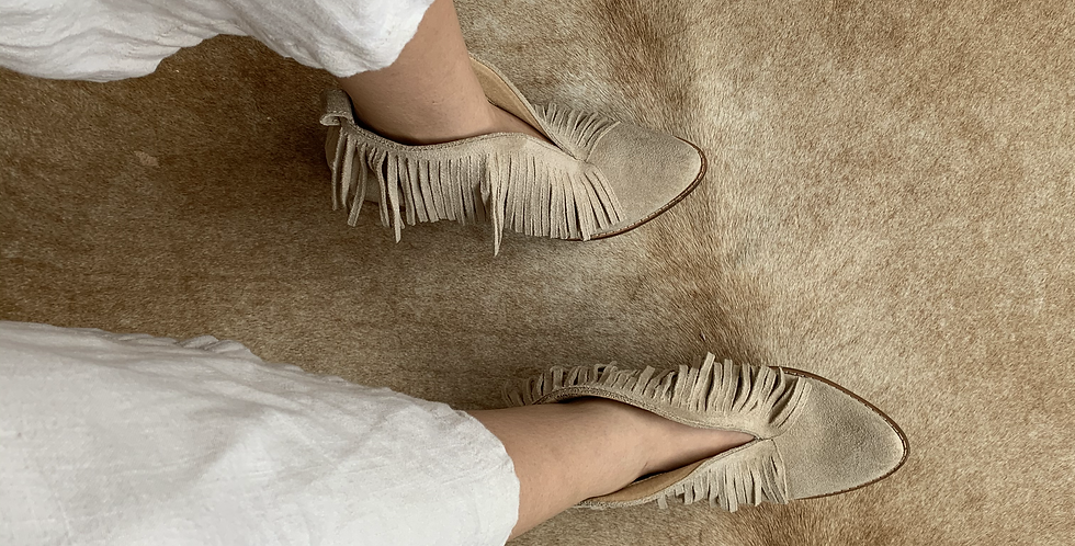 dust and sand fringe booties