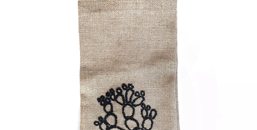 Prickly hand towel.