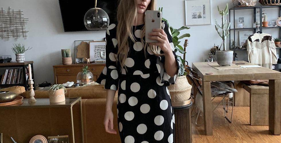 Mod dot retro dress