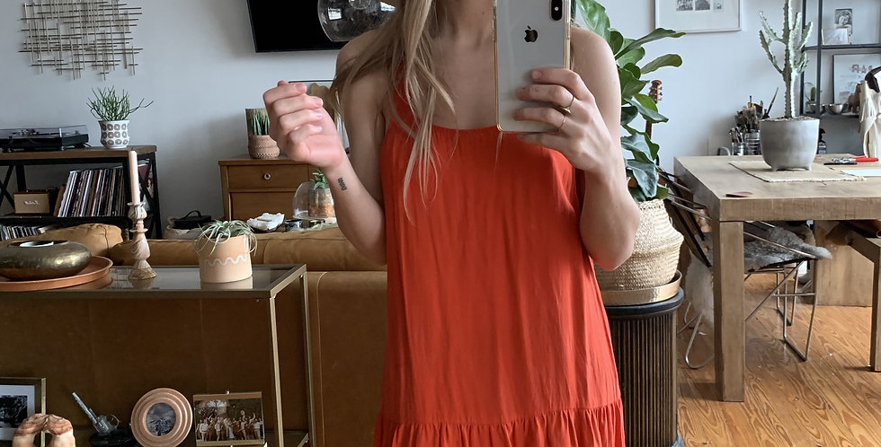 Orange Balisilk dress