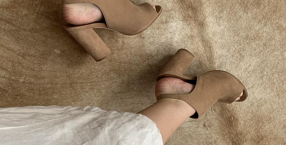suede camels heels