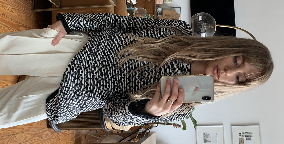 reversible aspen sweater