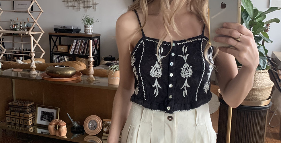 embroidered tank