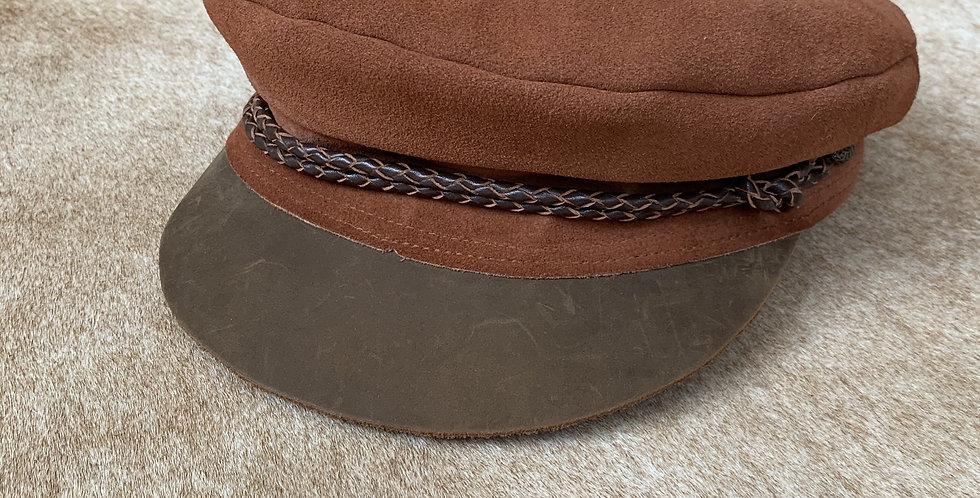 suede & leather cap