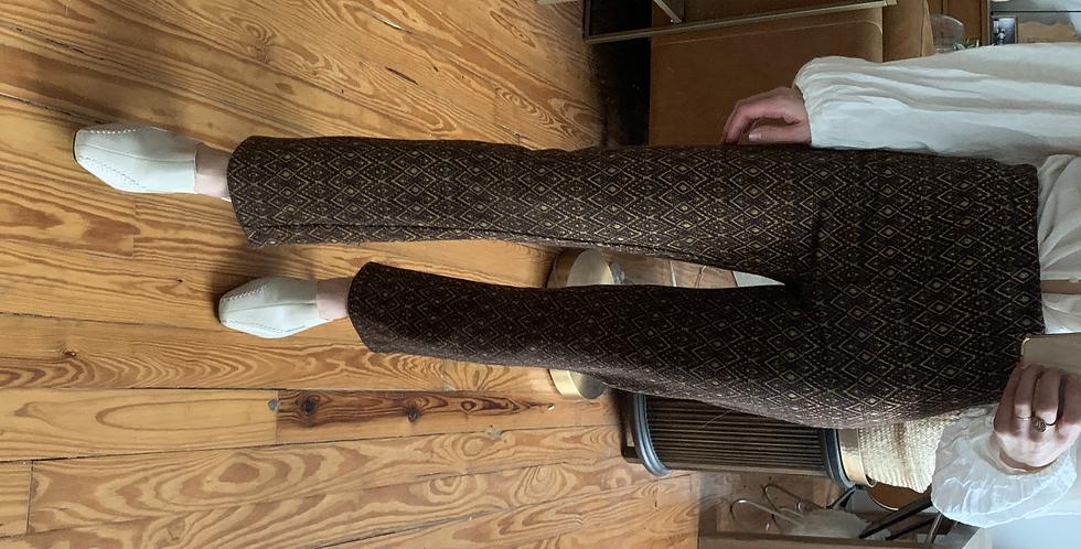 retro knit print pants