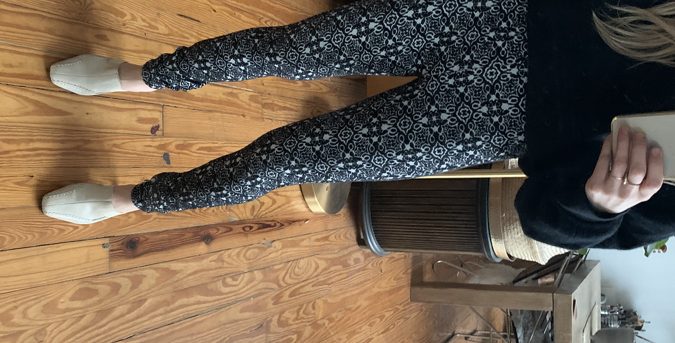 knit pattern sweater leggings