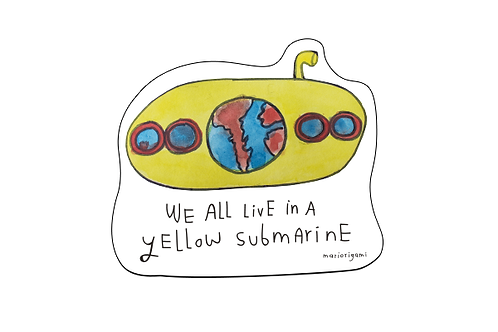 Sticker Yellow Submarine