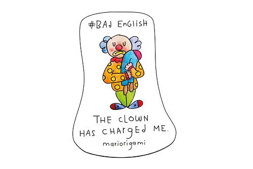 Sticker The Clown Has Charged Me