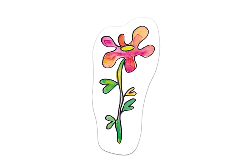 Separador Flor naranjirosa
