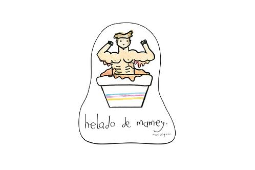 Sticker Helado de Mamey