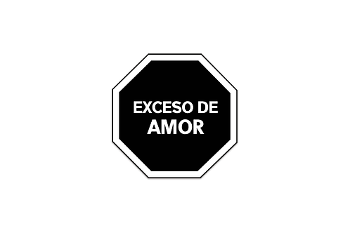 Sticker Exceso de Amor