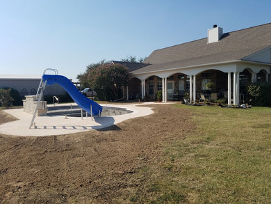 """Haslet Pool Grade Job  """"After"""" Picture"""