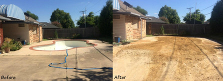 Before and After Pool Demo