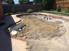 Pool Demolition During phase
