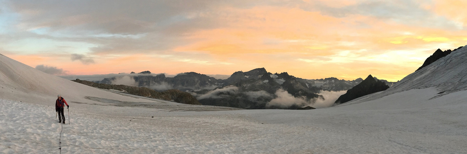 Morgens um 6:30Uhr auf dem Steingletscher