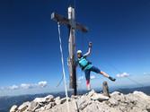 Astrid und Manni am Gipfel des Wörner, 2474m
