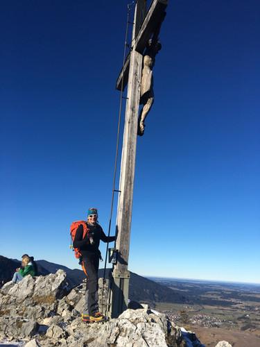 Milla am Gipfel