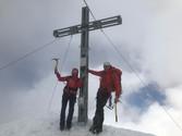 Manni, Astrid und Milla am Gipfel