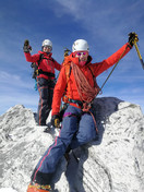 Astrid, Manni und Milla am Gipfel