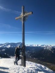 Astrid und Manni am Gipfel des Hohen Fricken