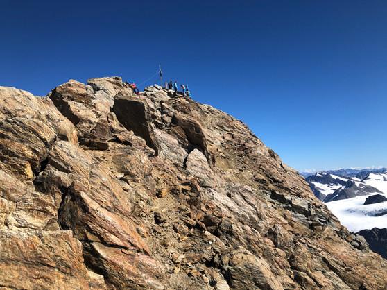 Getümmel am Gipfel