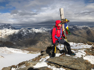 Gipfel Cima Marmotta, 3327m