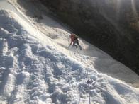 Im Abstieg am Bergschrund
