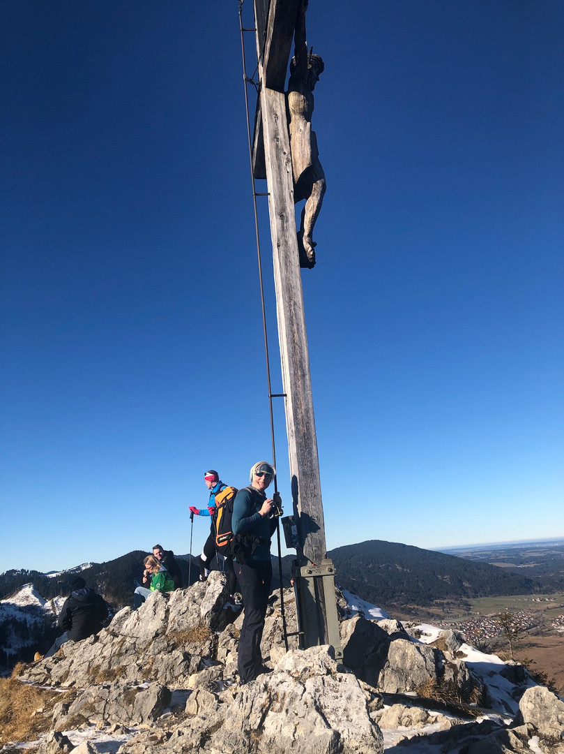 Astrid am Gipfel