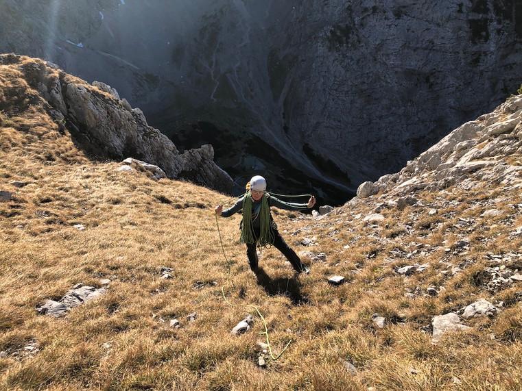 Astrid am Ausstieg