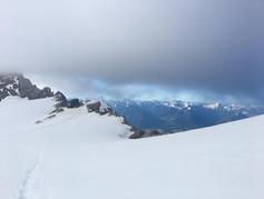 Aufstieg Gipfel