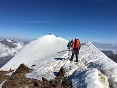 Et voilá: Der Gipfel ist in Sichtweite