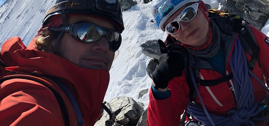 Gipfelgrat Barre des Ecrins