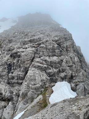 Sattel zwischen Kreuzspitze und Aufstieg Hochvogel