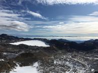 Blick vom Gipfel zu den Dolomiten