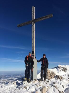 Thomas, Manni und Milla am Gipfel