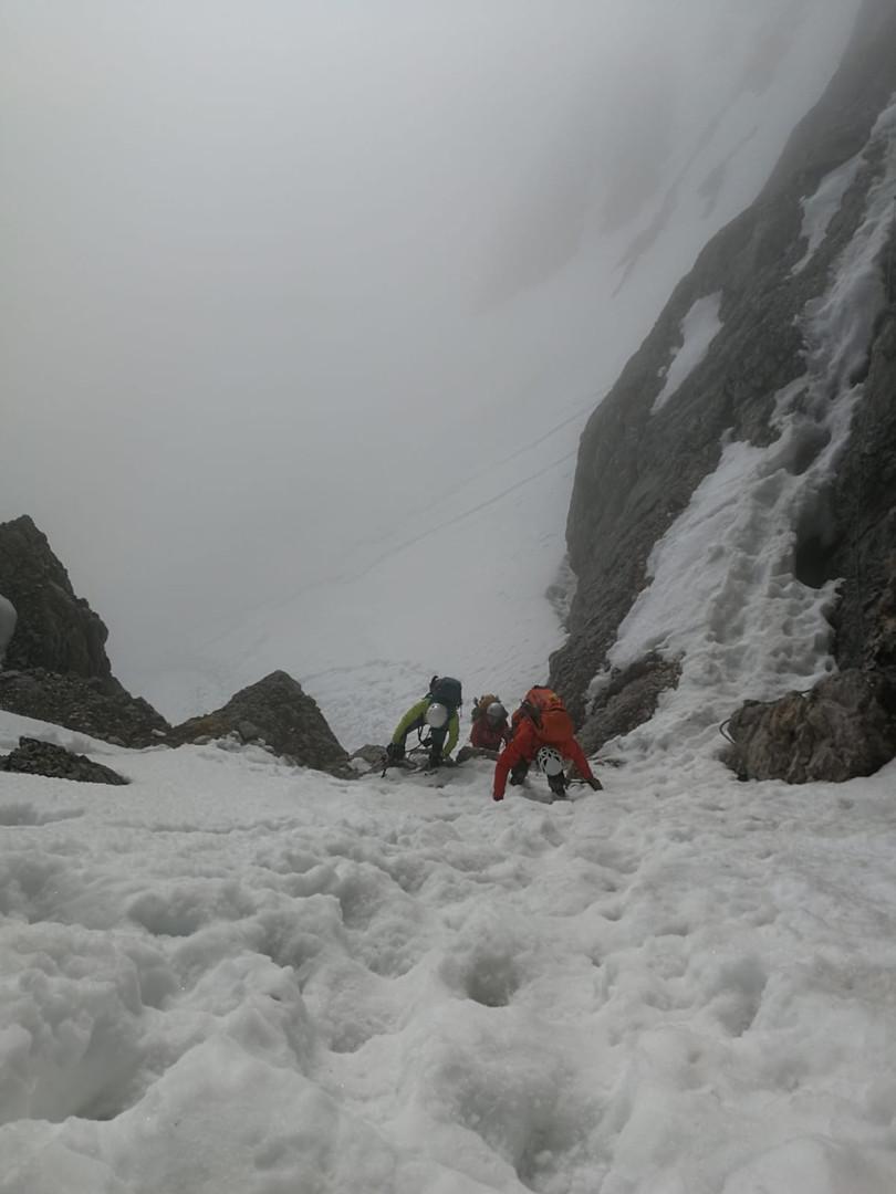 Beginn des Klettersteigs zum Gipfel