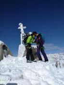 Oben. Monte Adamello. 3539m hoch.