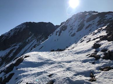 Blick auf den Gipfelgrat