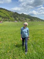Astrid auf dem Landeplatz am Hündle