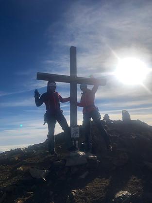 Astrid, Manni und Milla auf dem Gipfel des Sustenhorns, 3501m