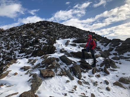 Auf dem Grat zum Gipfel