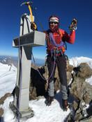 Gipfelfoto mit Manni und Milla
