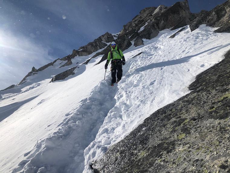 Manuel im Schneefeld