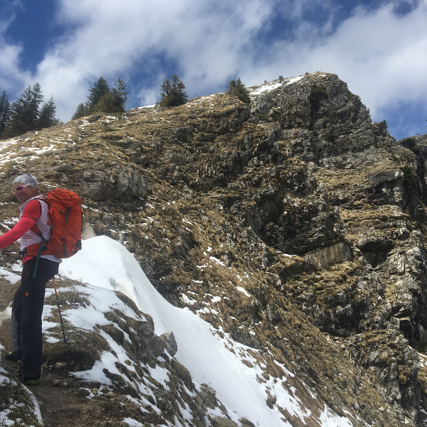Der letzte Anstieg zum Gipfel