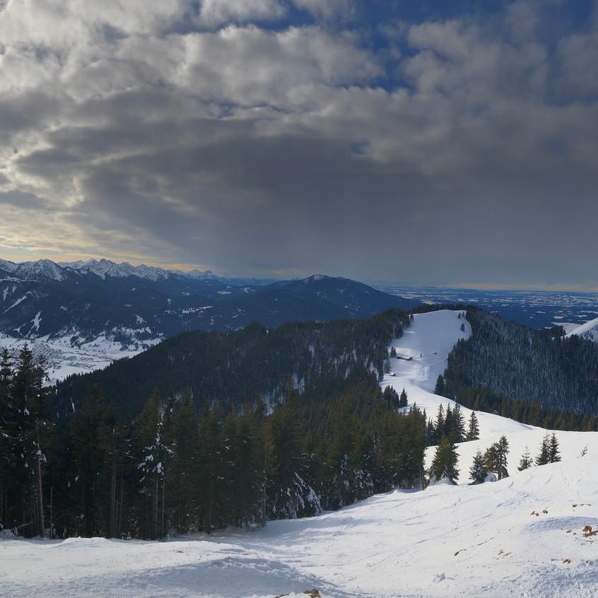 Panorama von Hinterem Hörnle aus