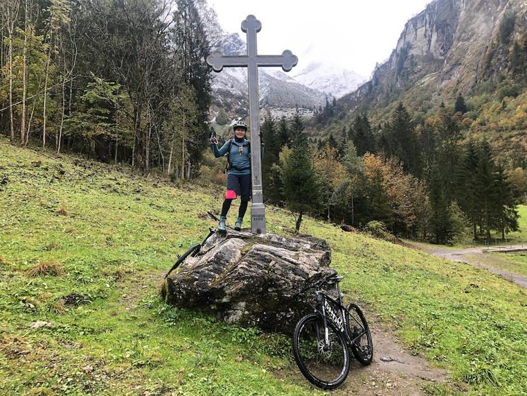 Astrid mit Manni am Prinzenkreuz
